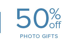 50% off Photo Gifts